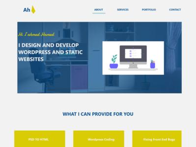 Personal Portfolio Website portfolio web-agency flatdesign landing page homepage uiux uidesign