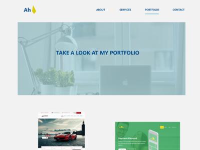 Portfolio typography ui  ux logo uiux uidesign portfolio landing page web-agency flatdesign