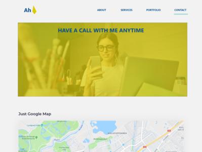 Contact branding homepage illustration uidesign web-agency portfolio landing page flatdesign