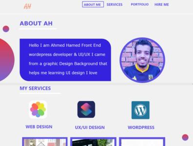 First Portfolio Design app flatdesign portfolio uidesign