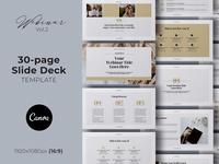 Webinar Slide Deck Canva Template