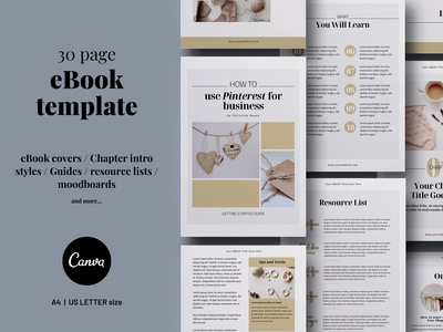 30-page Canva eBook template