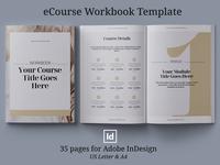 eCourse Workbook InDesign template