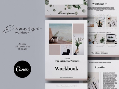 Canva Ecourse Workbook Template