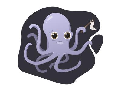 Free-oil octopus