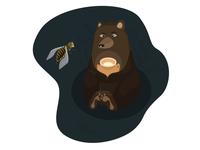 Bear, bee. And honey