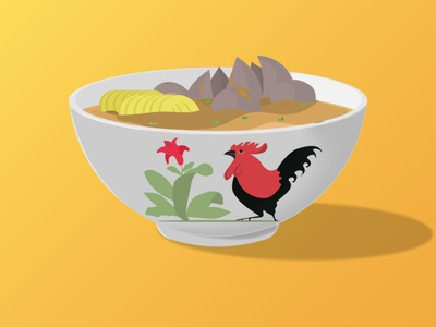 Bakso minimal illustrator illustration vector flat design