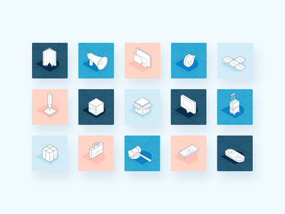 Didomi Icon Set brand minimal illustration branding isometry icon uiwebsite uidesign tech ui design