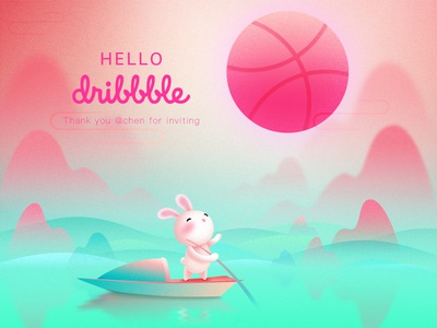 Hello dribbble debut design hello dribble illustration