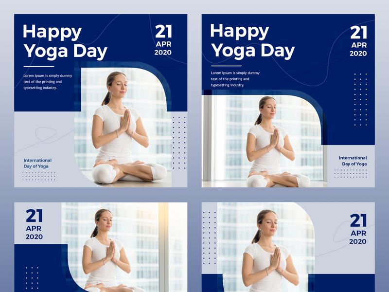 Yoga Social Media Design instagram post socialmediamarketing banner ads social media ads fitness gym instagram social media design branding yoga