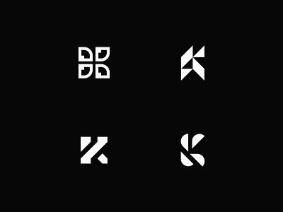 K Lettermark exploration design monogram logo k monogram k logo monogram letter mark monogram brand identity logo mark minimalist logo designer branding logo design logo