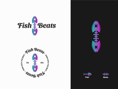 Fish Beats Logo branding concept music business music app branding design logos brand identity logo designer logo mark minimalist branding logo design logo