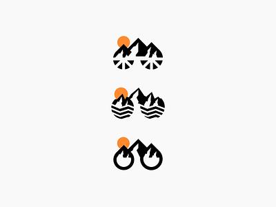 Mountain Bike Logo Concepts design illustration branding logos iconic logo logo mark minimalist logo designer logo design logo