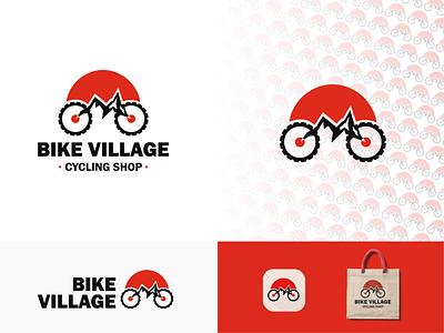 Bike village logo brand identity designer mountain bike logo logomark bike shop logo bike logo mountainbike vector branding design minimalist logo designer logo design logo