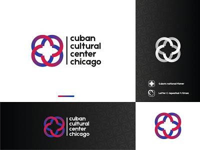 Cuban cultural center chicago Logo cuba cuba logo monogram typography branding brand identity design logo mark minimalist logo designer logo design logo