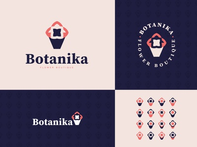Botanika Logo logo designer logo challenge flower boutique brand identity logos design minimalist logo design 30daysoflogos botanika logo flowers flower logo logo