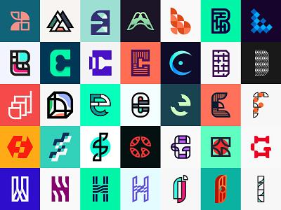 A to I - 36 days of type challenge design letter logo letters logo monogram logo logo mark brand identity logo logo challenge minimalist logo designer 36 days of type 36daysoftype logo design