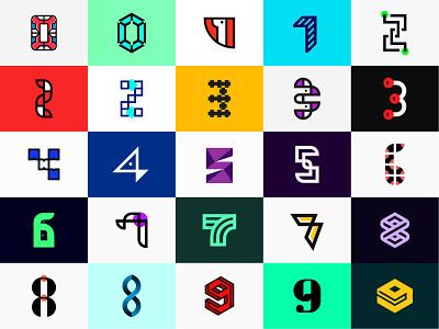 0 to 9 - 36 days of type challenge brand identity logo design 36daysoftype08 numbers logo logotype 36daysoftype iconic logo logo challenge logo mark minimalist logo designer logo