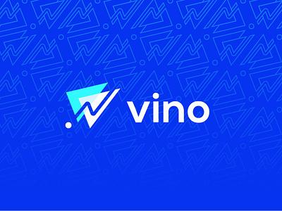 Vino Logo graphic design logo design design brand identity nano vite crypto logo minimalist logo designer logo vino