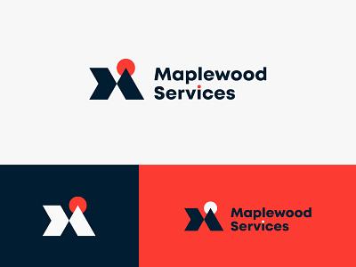 Maplewood service Logo maplewood logo brand identity logo ui design logo mark branding minimalist logo designer logo design