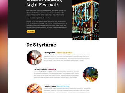 Upcoming website website festival light dark