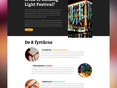 Upcoming website website festival light dark