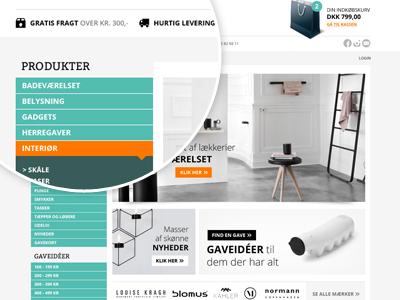 Lifestyle shop shop webshop e-commerce lifestyle flat teal orange