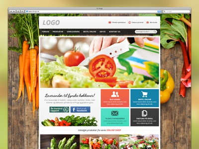 Fruits and vegetables (WIP) website ecommerce webshop wood vegetables fruit