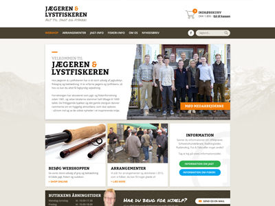 E-commerce (WIP) brown orange hunting e-commerce webshop website