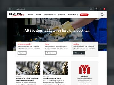 Megatrade - Website e-commerce webshop industry megatrade website