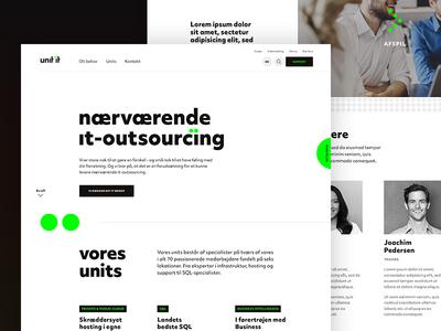 Unit IT neon green black website