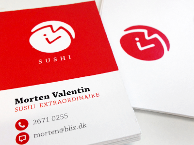 Sushiprint sushi logo fish japan print business card