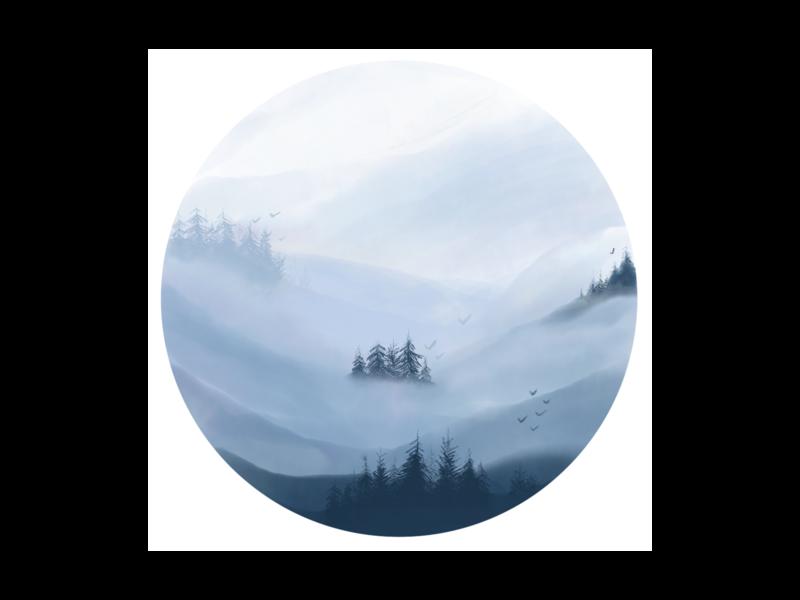 Mountain landscape illustration monochromatic forest digitalart art adobefresco mountains landscape watercolor digitalpaiting design illustration visual design
