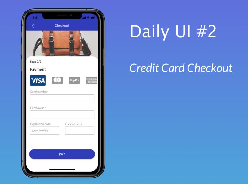 Daily UI #2 Checkout dailyui 002 dailyuichallenge shop paypal mastercard visa visualdesign payment creditcard checkout dailyui screen app ux ui design