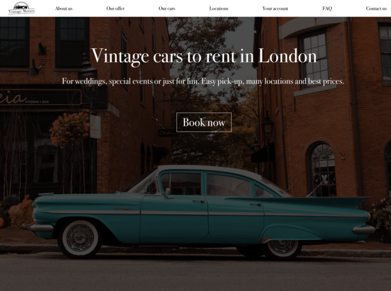 Daily UI #3: Landing Page rental car booking website landingpage screen dailyui003 visual design dailyui logo branding ux ui design