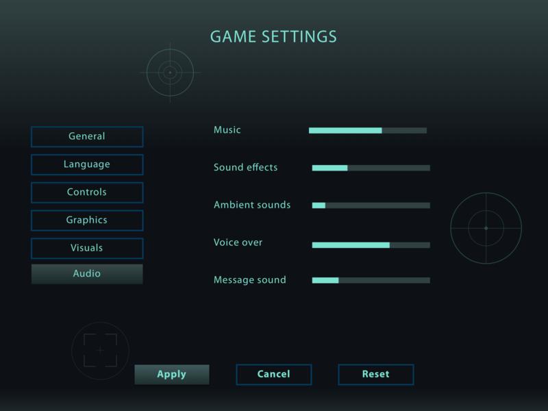Daily UI #7: Settings dark mode music videogame game dailyuichallenge dailyui007 dailyui screen visual design ui ux design