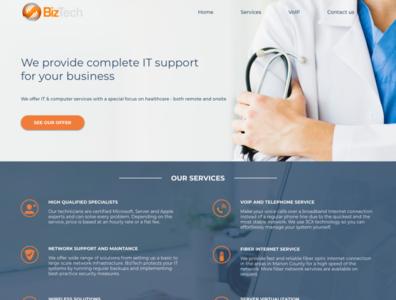 Website for IT company icons website it visual design ux ui design