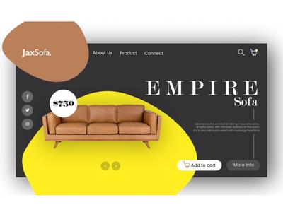 UI Design for Jax Sofa