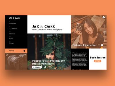 Jax & Oaks Landing page