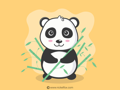 Panda Illustration vector illustrator illustration drawing digital art design artist art