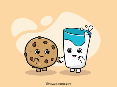Breakfast Illustration breakfast milk cookie vector illustrator illustration drawing digital art design artist art