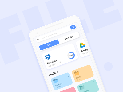 File Manager- Work In Progress clean storage dailyui file management file manager app file manager blue concept product design interface ux design ui design android ios app design dailyuichallenge adobe ux design ui