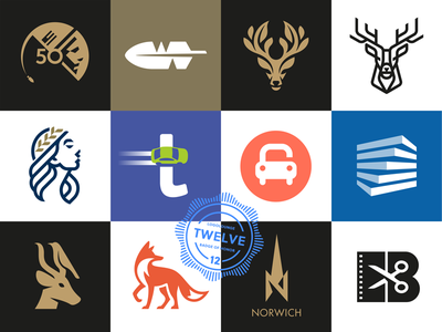 LogoLounge 12 logolounge animal logo branding negative space illustration logo