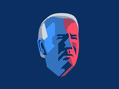 Joe president head trump illustration logo biden
