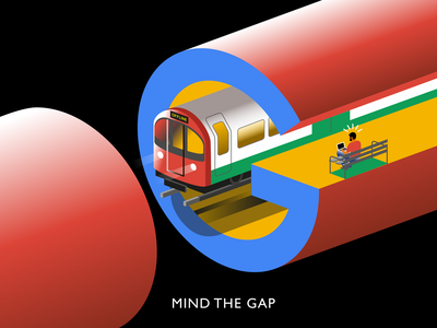 Mind the Gap illustration isometric underground subway train mind the gap google