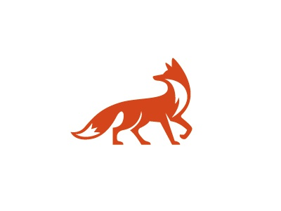 Fox logo illustration fox animal orange