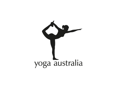 Yoga Australia logo illustration type icon negative space yoga australia