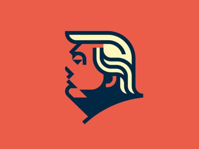 Trump minimalist profile geometric portrait vector illustration head orange logo icon trump
