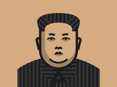 Kim Jong Un illustration kim jong un face vector icon logo trump