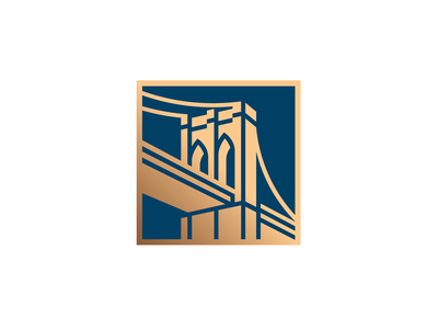 Donald Duck Bridge pin nyc badge new york icon gold brooklyn bridge bridge illustration logo